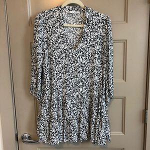 Zara Black & White Swing Dress Size L